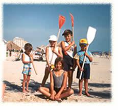 Une équipe à la plage